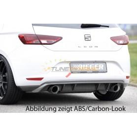 Rieger black rear bumper diffuser for Seat Leon 5F