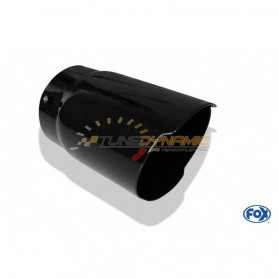 Black ceramic treatment option for exhaust tips