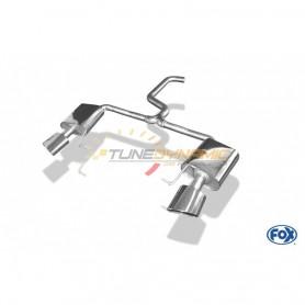 Silencieux arrière duplex D+G inox 1x160x90mm type 38 pour SEAT LEON 5F ST CUPRA 265/280/290
