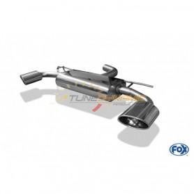 Pack catback FOX + lame de PC AV noire brillante +  diffuseur de PC AR noir brillant pour SEAT LEON TYPE 5F CUPRA 290