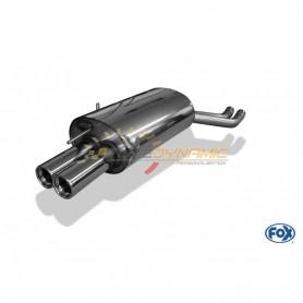 Silencieux arrière inox 2x76mm type 13 pour BMW 330D/330XD TYPE E46