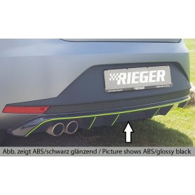 Rieger black rear bumper diffuser for Seat Leon 5F EN