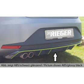 Diffuseur de pare-chocs arrière noir Rieger pour Seat Leon 5F FR