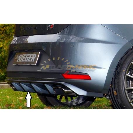 Diffuseur de pare-chocs arrière noir Rieger pour Seat Leon 5F CUPRA