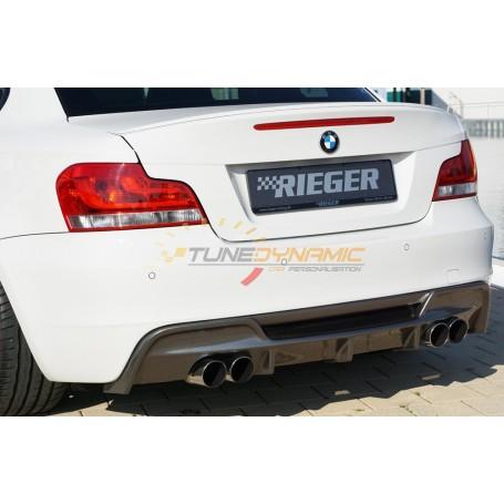 Diffuseur de pare-chocs arrière Rieger carbon-look pour BMW SERIE 1 E82/88