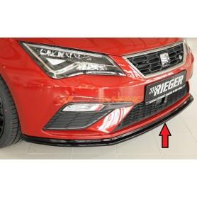 Rieger shiny black front bumper blade for Seat Leon 5F FR/CUPRA Facelift