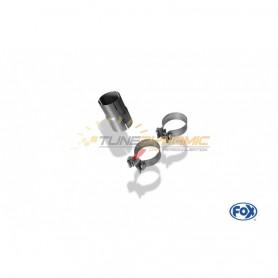 Adaptateur inox 70/60mm pour BMW X3 TYPE F25