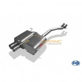Silencieux arrière inox 2x80mm type 10 pour BMW Z4 TYPE E85 (non Facelift)