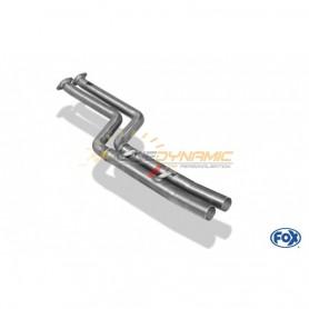 Tube de suppression de silencieux avant inox pour BMW Z4 TYPE E85 (non Facelift)