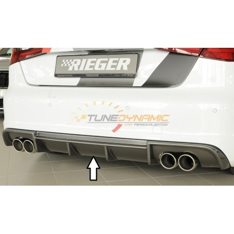 Diffuseur de pare-chocs arrière carbon-look Rieger pour Audi A3 type 8V S-LINE