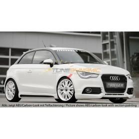 Bas de caisse gauche carbon-look Rieger pour Audi A1 type 8X