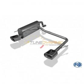 Silencieux arrière duplex inox 1x135x80mm type 53 pour FIAT GRANDE PUNTO TYPE 199