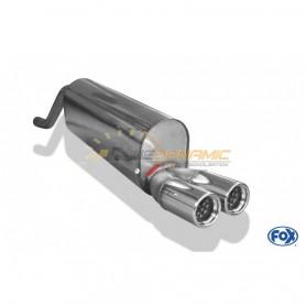 Silencieux arrière inox 2x76mm type 13 pour FIAT GRANDE PUNTO TYPE 199