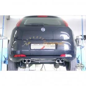 Silencieux arrière duplex inox 2x76mm type 13 pour FIAT GRANDE PUNTO TYPE 199