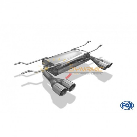Silencieux arrière duplex inox 2x70mm type 16 pour FIAT 124 SPIDER