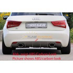 Diffuseur de pare-chocs arrière carbon-look Rieger pour Audi A1 type 8X