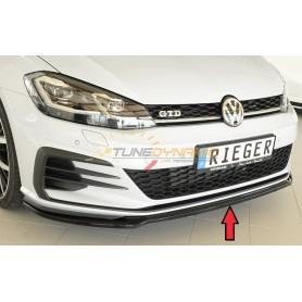 Lame de pare-chocs avant Rieger noire brillante pour Volkswagen Golf 7 GTI/GTD/GTE Facelift