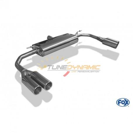 Silencieux arrière duplex inox 2x80mm type 12 pour MERCEDES CLA 4-MATIC TYPE C117/X117