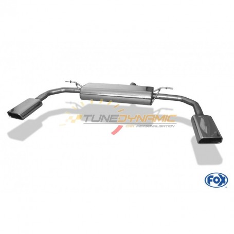 Silencieux arrière duplex inox 1x145x65mm type 59 pour MERCEDES CLA 4-MATIC TYPE C117/X117