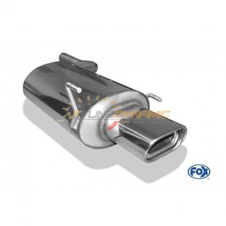 Silencieux arrière inox 1x135x80mm type 53 pour MERCEDES CLK TYPE W208