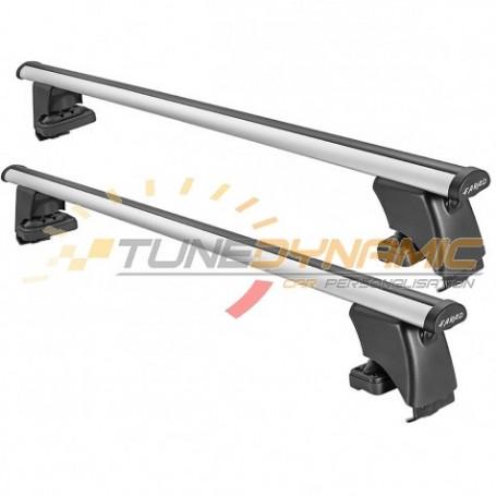 Barres de toit ALU 120cm + kit de fixation BS pour Toyota Yaris 5 portes 2011-
