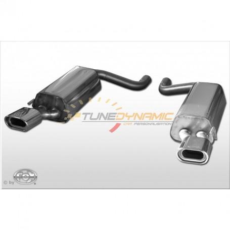 Silencieux arrière duplex inox 1x135x80mm type 53 pour MERCEDES CLASSE S COUPE TYPE C215