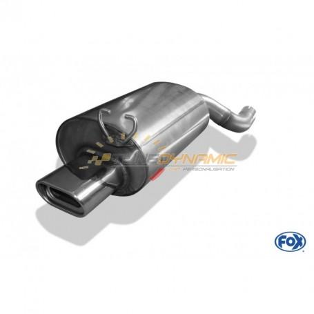 Silencieux arrière inox 1x135x80mm type 53 pour MERCEDES SL TYPE R129