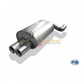 Silencieux arrière inox 2x80mm type 13 pour MERCEDES SL TYPE R129