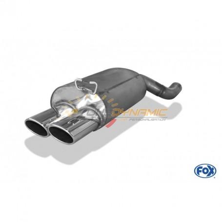 Silencieux arrière inox 2x115x85mm type 44 pour MERCEDES SL TYPE R129