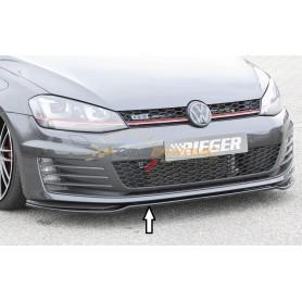 Lame de pare-chocs avant noir brillant Rieger pour Volkswagen Golf 7 GTI/GTD