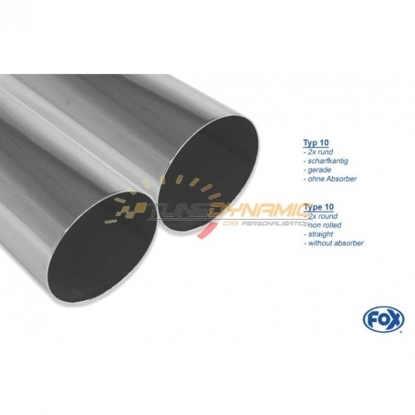 "Silencieux arrière inox ""Sidepipe"" 2x76mm type 10 pour MITSUBISHI L200 TYPE KAOT FOURCAP 4 PORTES"