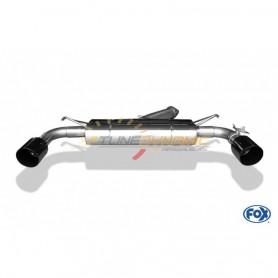 Silencieux arrière duplex inox avec valves 1x114mm type 25 (noir brillant) pour HYUNDAI I30 N PERFORMANCE