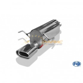Silencieux arrière inox 1x135x80mm type 53 pour OPEL ASTRA H / ASTRA H GTC TURBO