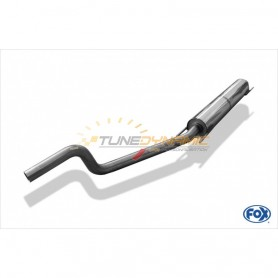 Silencieux avant inox pour OPEL ASTRA H / ASTRA H GTC TURBO