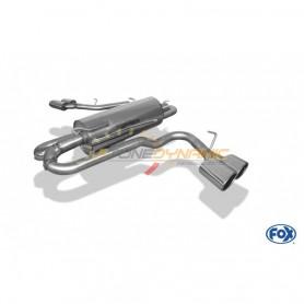 Silencieux arrière duplex inox 2x115x85mm type 38 (sidepipe) pour FORD RANGER MK6 WILDTRAK