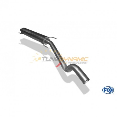 Silencieux avant inox pour OPEL ASTRA G COUPE/CABRIOLET