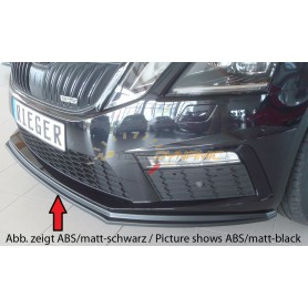 Rieger black front bumper blade for SKODA OCTAVIA RS TYPE 5E FACELIFT