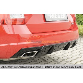 Rieger black rear bumper diffuser for SKODA OCTAVIA RS TYPE 5E FACELIFT