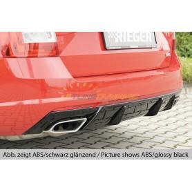 Diffuseur de pare-chocs arrière carbon-look Rieger pour SKODA OCTAVIA RS TYPE 5E FACELIFT