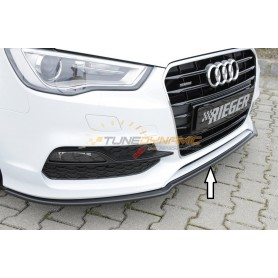 Lame de pare-chocs avant noire Rieger pour Audi A3 type 8V