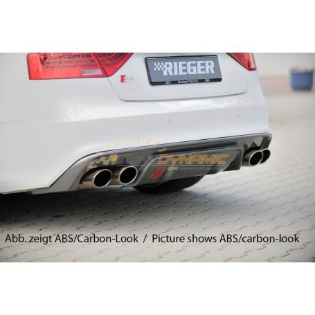 Diffuseur de pare-chocs arrière noir Rieger pour AUDI A5/S5 TYPE B8