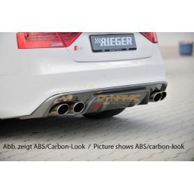 Diffuseur de pare-chocs arrière noir brillant Rieger pour AUDI A5/S5 TYPE B8