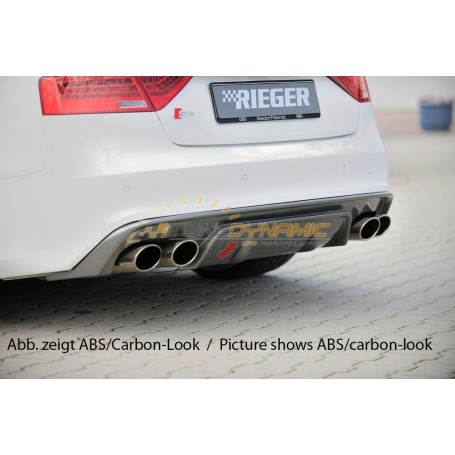 Rieger carbon-look rear bumper diffuser for AUDI A5/S5 TYPE B8