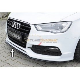 Lame de pare-chocs avant noire brillante Rieger pour Audi A3 type 8V