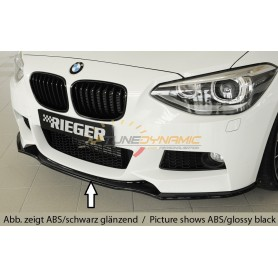 Rieger black front bumper blade for BMW SERIE 1 F20/21