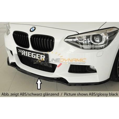 Lame de pare-chocs avant noire Rieger pour BMW SERIE 1 F20/21
