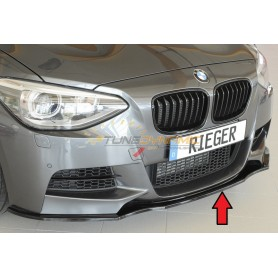 Rieger bright black front bumper blade for BMW SERIE 1 F20/21