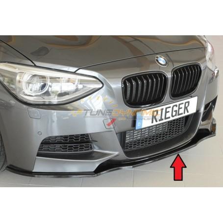 Lame de pare-chocs avant noire brillante Rieger pour BMW SERIE 1 F20/21