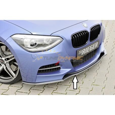 Lame de pare-chocs avant carbon-look Rieger pour BMW SERIE 1 F20/21