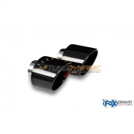 Kit embouts d'échappement inox 1x129x106mm type 32 noir brillant pour HYUNDAI I30 BERLINE/FASTBACK N PERFORMANCE